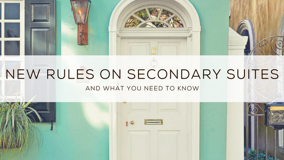 New Rules On Secondary Suites (And What You Need To Know)